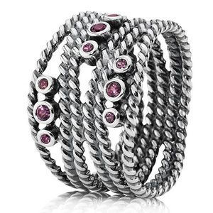 Pandora Hidden Romance Rhodolite Ring